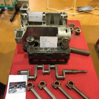 Motor an Oldtimermesse SG