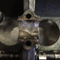 Ausgeschmolzene Weissmetallager