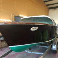 wunderschön gewordenes Mahagoni Holzboot