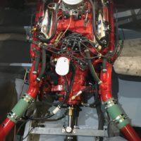 fertig eingebauter und angeschlossener Motor