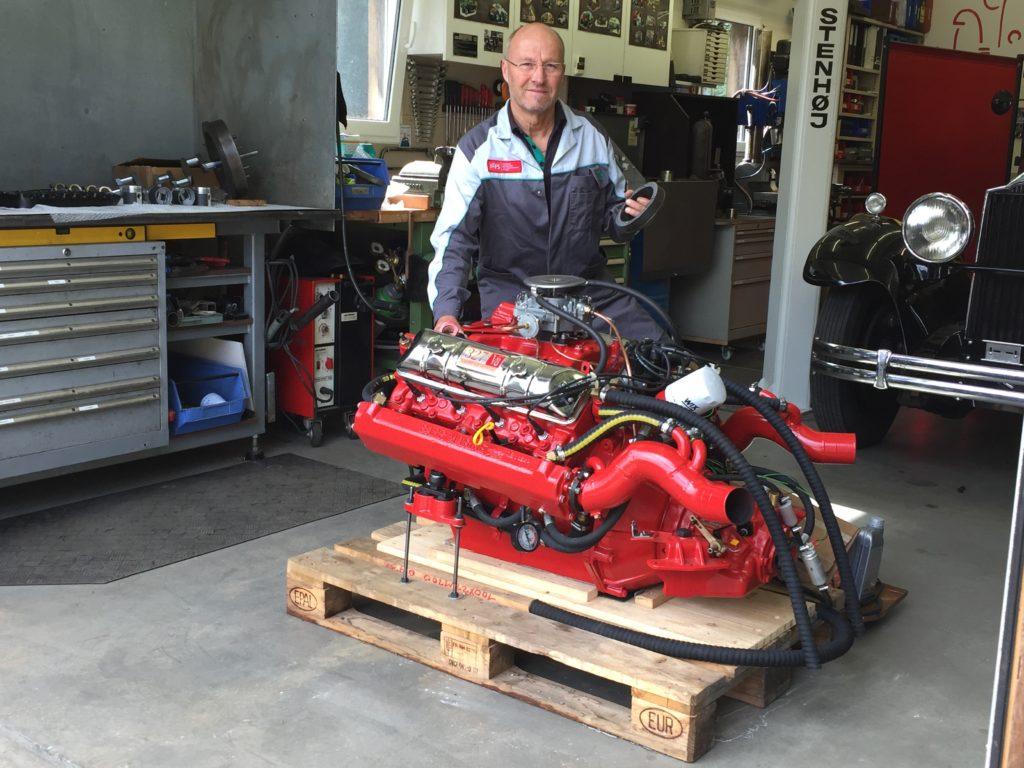 Fertiger Bootsmotor
