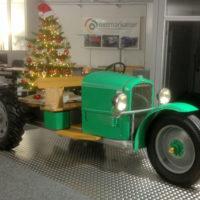 Der 3 Rad Autotraktor ist bei der Firma Dietmar Kaiser im Büro stationiert.