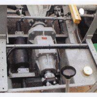 Das neu eingepflanzte Industriegetriebe, ist mittels  Hardyscheibe mit dem 1. Getriebe verbunden.  50 km/h sind damit immer noch möglich.
