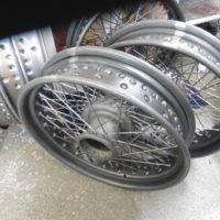 Neue Räder im Rohbau
