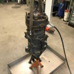 Erster Versuch Kolben mit Pressluft und Diesel zu lösen